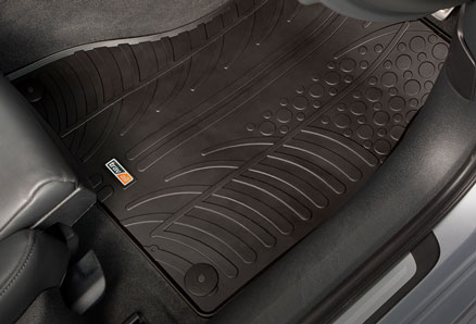 Vehicle specific rubber mats